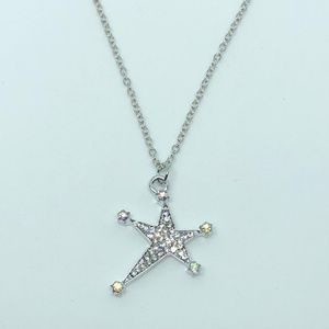 Jewelry - Silver Rhinestone Star Pendant Necklace